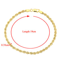 Load image into Gallery viewer, 9ct Yellow Gold Rope Bracelet of 7.5 Inch/19cm Length
