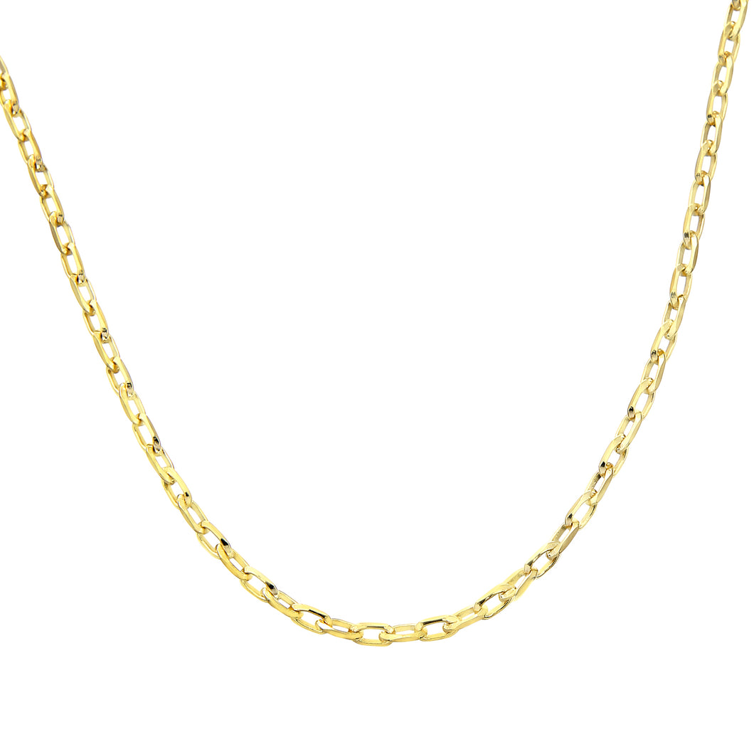 9ct Yellow Gold 3.2g Belcher Necklace of 16 Inch/41cm Length and 0.15cm Width