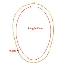 Load image into Gallery viewer, 9ct Yellow Gold 5.0g Belcher Necklace of 18 Inch/46cm Length and 0.2cm Width