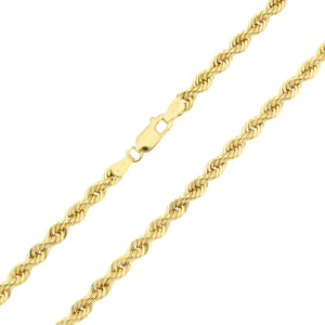 9ct Yellow Gold Thick Rope Chain Necklace 18 Inch/46cm Length