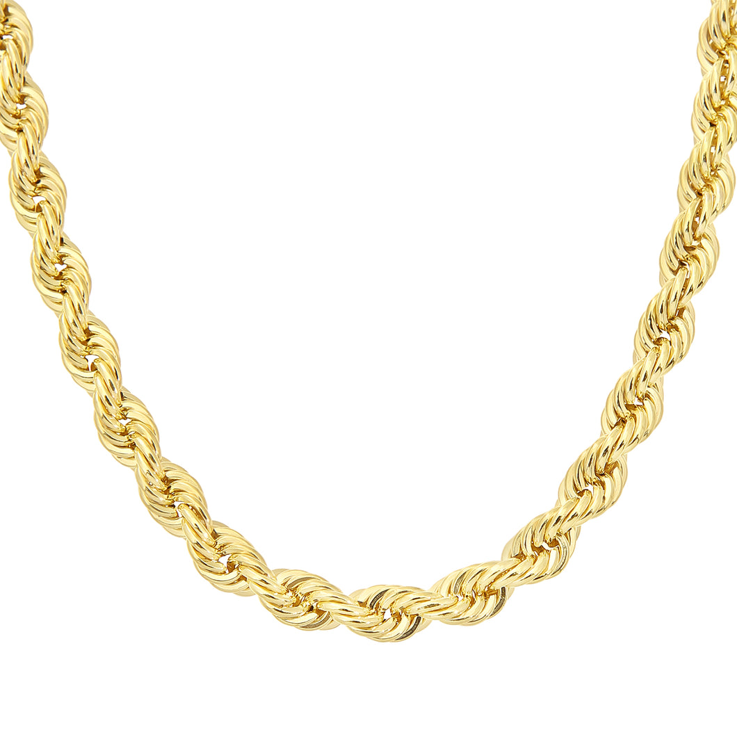 9ct Yellow Gold Thick Rope Chain Necklace 20 Inch/51cm Length
