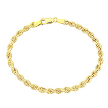 Load image into Gallery viewer, 9ct Yellow Gold Thick Rope Bracelet of 7.5 Inch/19cm Length