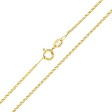 Load image into Gallery viewer, 9ct Yellow Gold  1.8g Curb Chain Necklace of 18 Inch/46cm Length