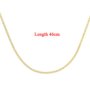 9ct Yellow Gold  1.8g Curb Chain Necklace of 18 Inch/46cm Length