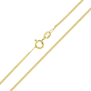 9ct Yellow Gold  2.0g Curb Chain Necklace of 20 Inch/51cm Length