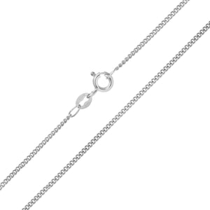9ct White Gold  2.9g Curb Chain Necklace of 20 Inch/51cm Length