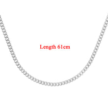 Load image into Gallery viewer, 9ct White Gold  8.1g Curb Chain Necklace of 24 Inch/61cm Length