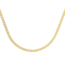 Load image into Gallery viewer, 9ct Yellow Gold  6.1g Curb Chain Necklace of 18 Inch/46cm Length