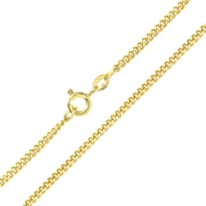 9ct Yellow Gold  6.8g Curb Chain Necklace of 20 Inch/51cm Length