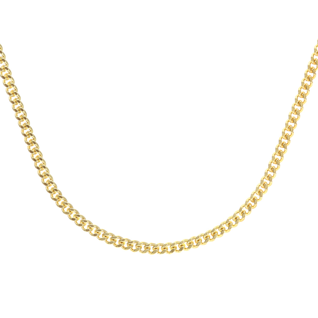 9ct Yellow Gold  7.5g Curb Chain Necklace of 22 Inch/56cm Length