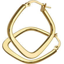 Load image into Gallery viewer, 9ct Yellow Gold Tapered Square Hoop Earrings