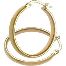 Load image into Gallery viewer, 9ct Yellow Gold Dome Tube Fine Hoop Earrings of 20mm Diameter
