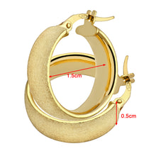 Load image into Gallery viewer, 9ct Yellow Gold Matte Domed Hoop Earrings