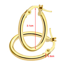 Load image into Gallery viewer, 9ct Yellow Gold Oval Hoop Earrings