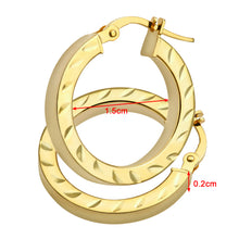 Load image into Gallery viewer, AR052Y 9ct Yellow Gold Side Diamond Cut Square Tube Hoop Earrings