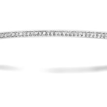 Load image into Gallery viewer, 9ct White Gold 0.55ct Pave Set Diamond Bangle of 6.5cm