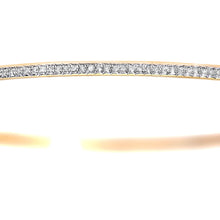 Load image into Gallery viewer, 9ct Yellow Gold 0.55ct Pave Set Diamond Bangle of 6.5cm