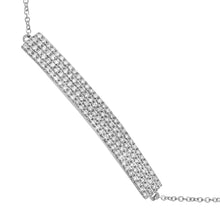 Load image into Gallery viewer, 9ct White Gold Pave Set Diamond Bar Bracelet of 17.8cm
