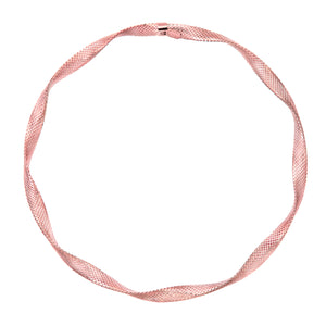 9ct Rose Gold Diamond Cut Twist Bangle of Diameter 65mm