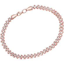 Load image into Gallery viewer, 9ct Rose and White Gold Oval Links Bracelet of Length 19cm