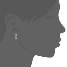 Load image into Gallery viewer, 18ct White Gold Emerald and Diamond Fig 8 Stud Earrings