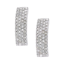 Load image into Gallery viewer, 9ct White Gold Diamond Earrings
