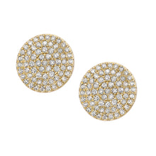 Load image into Gallery viewer, 9ct Yellow Gold Diamond Cluster Stud Earrings