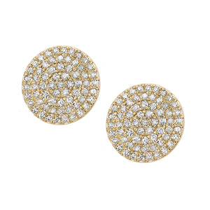 9ct Yellow Gold Diamond Cluster Stud Earrings