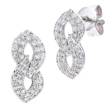 Load image into Gallery viewer, 9ct White Gold Diamond Earrings in Figure 8 Design
