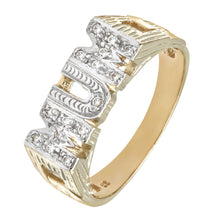 Load image into Gallery viewer, 9ct Yellow Gold Ladies Stone Set Mum Fancy Ring