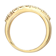 Load image into Gallery viewer, 9ct Yellow Gold Ladies Half Eternity Crossover Stone Set Ring