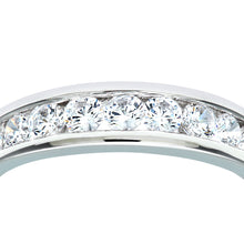 Load image into Gallery viewer, 9ct White Gold Ladies Stone Set Eternity Ring