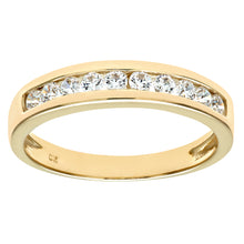 Load image into Gallery viewer, 9ct Yellow Gold Ladies Stone Set Eternity Ring