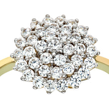 Load image into Gallery viewer, 9ct Yellow And White Gold Ladies Stone set Cluster Ring