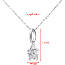 Load image into Gallery viewer, 9ct White Gold 0.10ct Diamond Star Pendant and Chain of 46cm