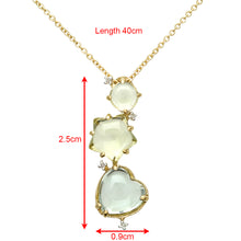 Load image into Gallery viewer, 18ct Yellow Gold 10ct Green Amethyst, Smokey and Lemon Quartz Gem Pendant with 40cm Chain