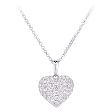 Load image into Gallery viewer, 18ct White Gold Diamond Heart Pendant Necklace