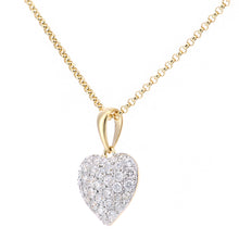 Load image into Gallery viewer, 18ct Yellow Gold Diamond Heart Pendant Necklace