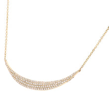 Load image into Gallery viewer, 9ct Yellow Gold Diamond Pendant Necklace in Semi Circle Design