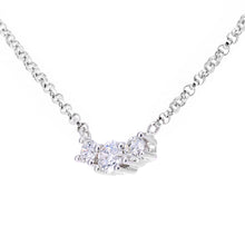 Load image into Gallery viewer, 18ct White Gold Diamond Trilogy Pendant Necklace, 0.20ct Diamond