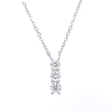 Load image into Gallery viewer, 9ct White Gold Diamond Trilogy Pendant Necklace, 0.20ct Diamond