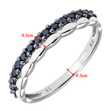 Load image into Gallery viewer, 9ct White Gold 0.28ct Black Diamonds Half Eternity Ring