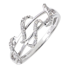 Load image into Gallery viewer, 9ct White Gold 0.11ct Diamond Snake Ring