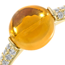 Load image into Gallery viewer, 9ct Yellow Gold Diamond and 2.30ct Round Citrine Ring