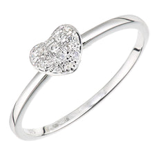 Load image into Gallery viewer, 9ct White Gold Diamond Heart Ring