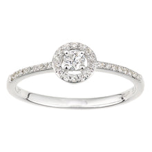 Load image into Gallery viewer, 9ct White Gold Round Halo Diamond Engagement Ring