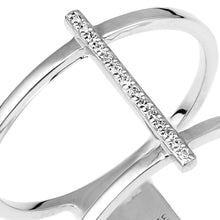 Load image into Gallery viewer, 9ct White Gold Double Layer Diamond Ring