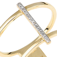 Load image into Gallery viewer, 9ct Yellow Gold Double Layer Diamond Ring