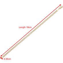 Load image into Gallery viewer, 9ct Yellow Gold 1.3g Flat Double Curb Bracelet of 19cm/7.5 Inch Length and 3.5mm Width
