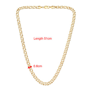 9ct Yellow Gold 9.0g Double Curb Necklace of 51cm/20 Inch Length and 6mm Width